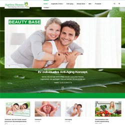 Bild Homepage Screenshot Ageless Beauty AntiAging SkinCare in Hamburg